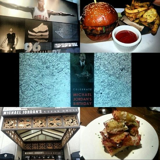 Lunch earlier today had to try this place Michaeljordan Steakhouse