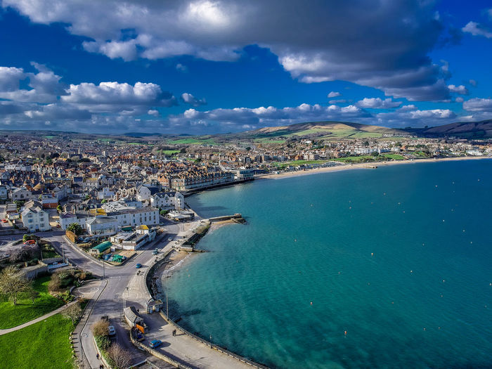 Swanage, Dorset, UK Drone  HDR Hdr_Collection Swanage Dronephotography Outdoors Sea Waterfront