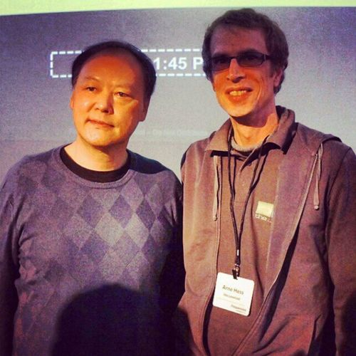 Giving Frequencies a visit. Peter Chou, CEO of HTC, and me. #Freqs #QuietlyBrilliant Freqs Quietlybrilliant