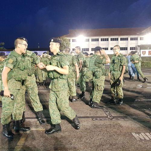 Elation Graduates Basic Military Training Graduation Parade Passing Out Parade Streetphotography Sg_streetphotography Sembawang Camp 7 Sept 2017 Soldiers Singapore