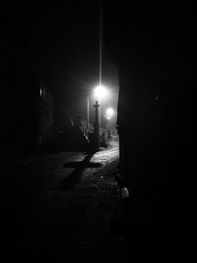 Night Illuminated Built Structure Street Architecture Street Light Building Exterior Outdoors Real People One Person People Jesus Team Jesus Jesus Christ No People Shadow Dark Shadows