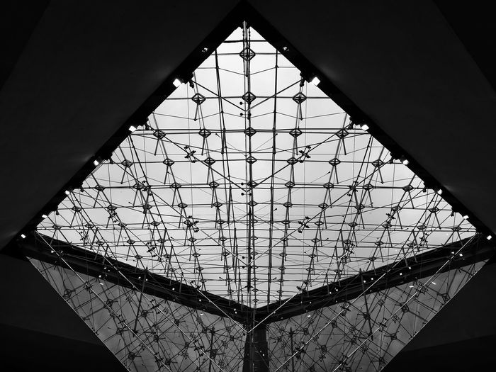 #shotonhuaweip8lite2017 Triangle Shape Window Architecture Close-up Sky Built Structure Skylight Cupola Hexagon Architecture And Art Diamond Shaped Architectural Detail Geometric Shape Ceiling Architectural Design Architectural Feature Stained Glass The Architect - 2019 EyeEm Awards