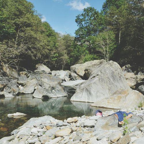 taking a break and a refreshing bath Mognio-Bignasco Tessin And I