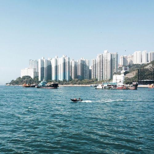 The Sunday Life. Architecture City Sea Clear Sky Outdoors Cityscape Lifestyles Sunday Coast HongKong
