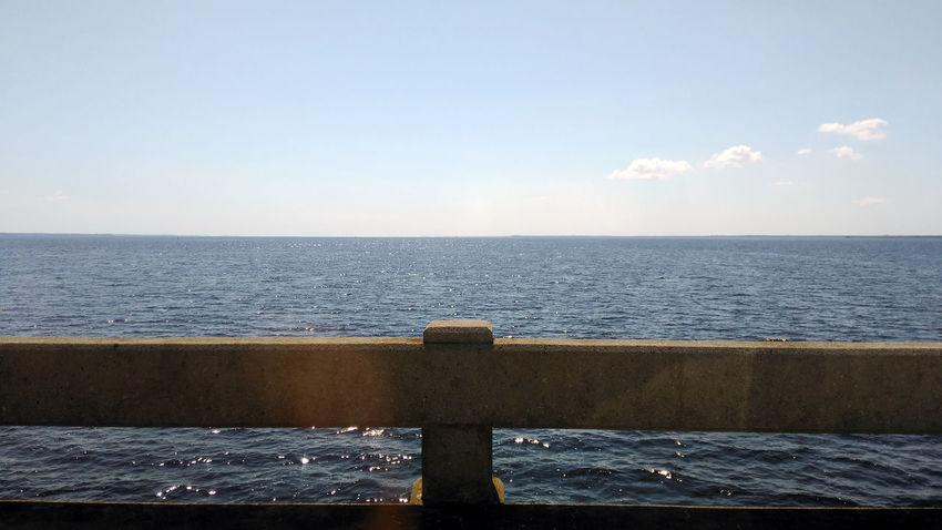 Bridge Horizon Over Water No People Outdoors Scenics Sea Sky Tranquil Scene Tranquility Water