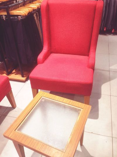 Chair Indoors  Seat No People Table High Angle View Home Interior Stool Comfortable Neat Red Crooked Tailor Made Furniture Day Home Showcase Interior
