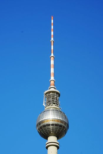 Berlin Sunnyday☀️ City Blue Clear Sky Technology Sky Architecture Television Tower German Culture Tower