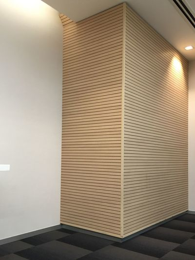 Wall - Building Feature Wooden Texture l Lazy Light Corporate Office