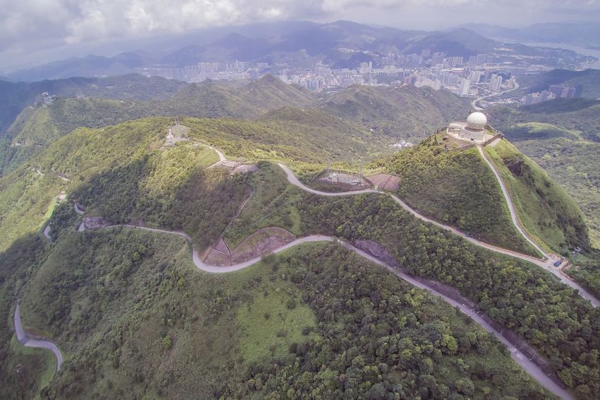 Travel Photography Kowloon Traveling Kowloon Peak Drone  Dronephotography Summer Sunshine Mountain Weather Nature EyeEm Best Shots Enjoy Life Yuneec Dji Drone View Observatory Radar Station