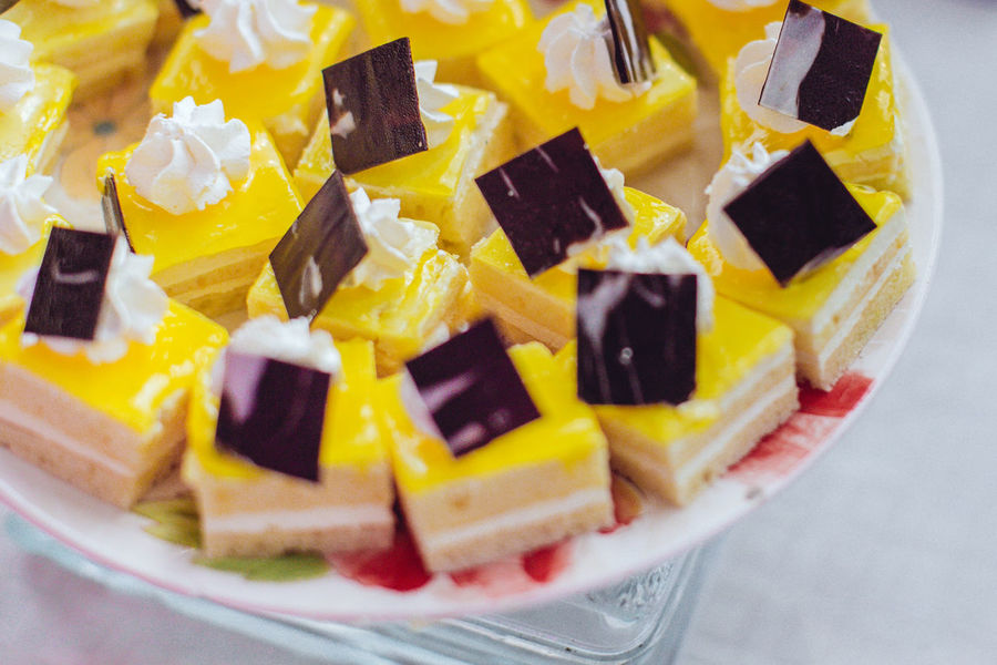 Dessert Food Mango Cake Mini Cakes Party Food Yellow