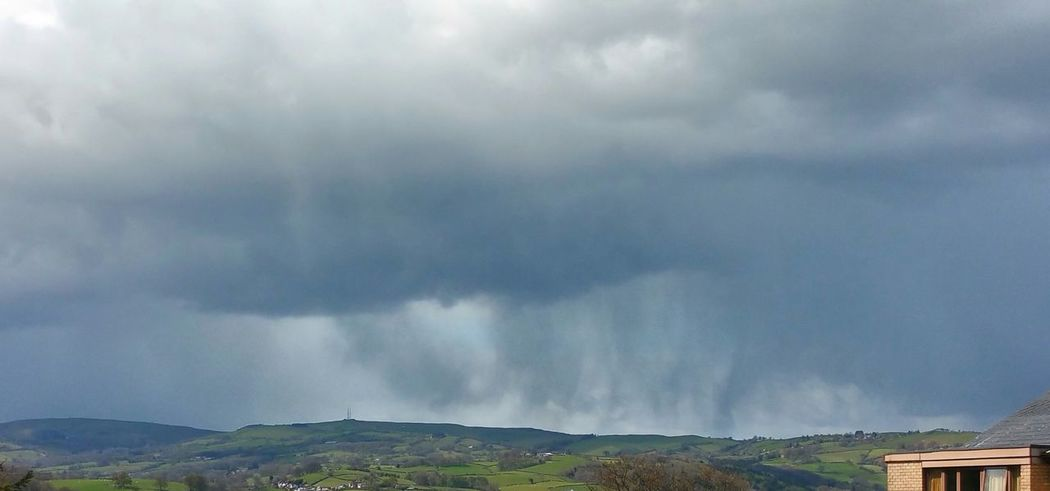 Today's Sky ... Rain Clouds Hills Newtown Powys Landscape Wales Дождь весна