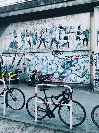 Street of Berlin Europe Vertical Town City Urban Germany Art And Craft Text Mode Of Transportation City No People Street Art Day Building Exterior Outdoors Built Structure