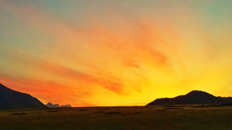 Sunset Red Sky Sky And Clouds Grassland Waterton Alberta Canada The Great Outdoors - 2016 EyeEm Awards The Essence Of Summer