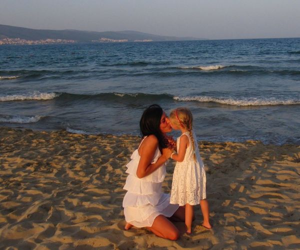my little angel 😊💋 Hollidays Kiss Mylove Whitedress Beach Sea Bulgaria Sunnybeach That's Me Moments Of My Life