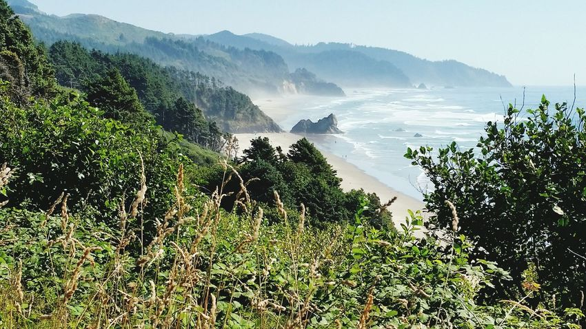 View point from the highway of Cannon Beach