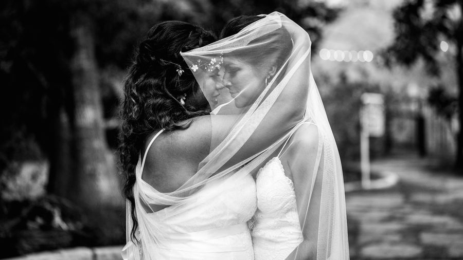 Brides Wedding Casual Clothing Emotion Headshot Love Is Love Outdoors Positive Emotion Real People Women Young Adult
