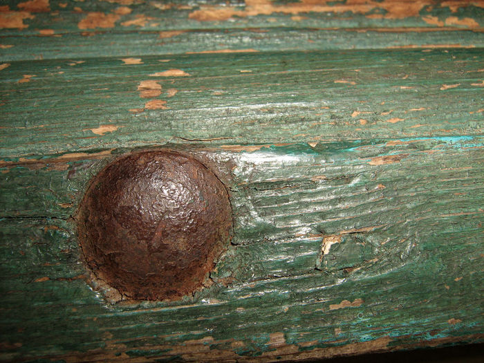 Rusty nail in