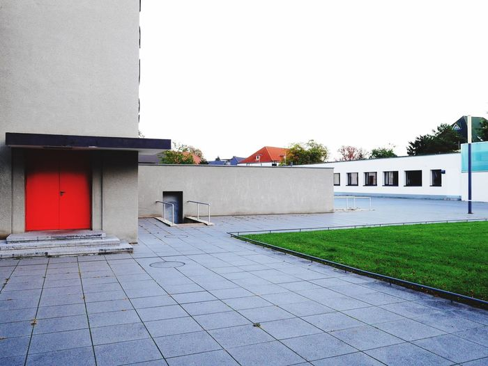 only the very brave do enter a red door... Building Exterior Architecture Built Structure Outdoors Bauhaus Building Red Door