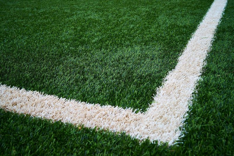 Close-up of soccer field