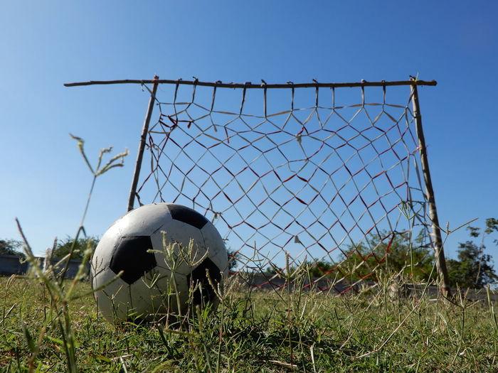 Football Football Goal Football Goal Net Shoot Children Dream Focus Goal Soccer Ball Soccer Goal