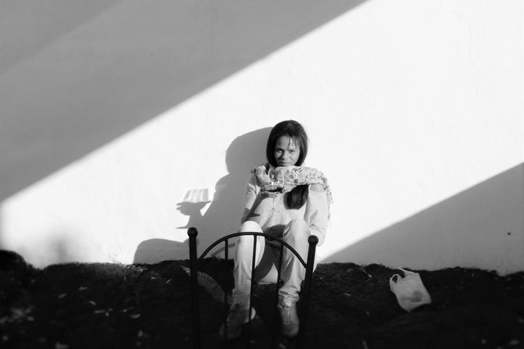 Black And White Light And Shadow Natural Light Portrait Lanzarote