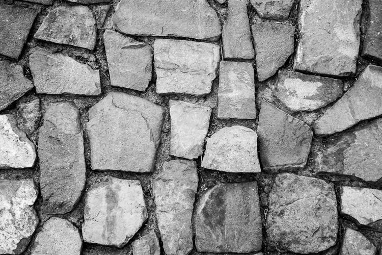 Backgrounds Black And White Close-up Day Full Frame Nature No People Outdoors Pattern Stone Tile Stoned