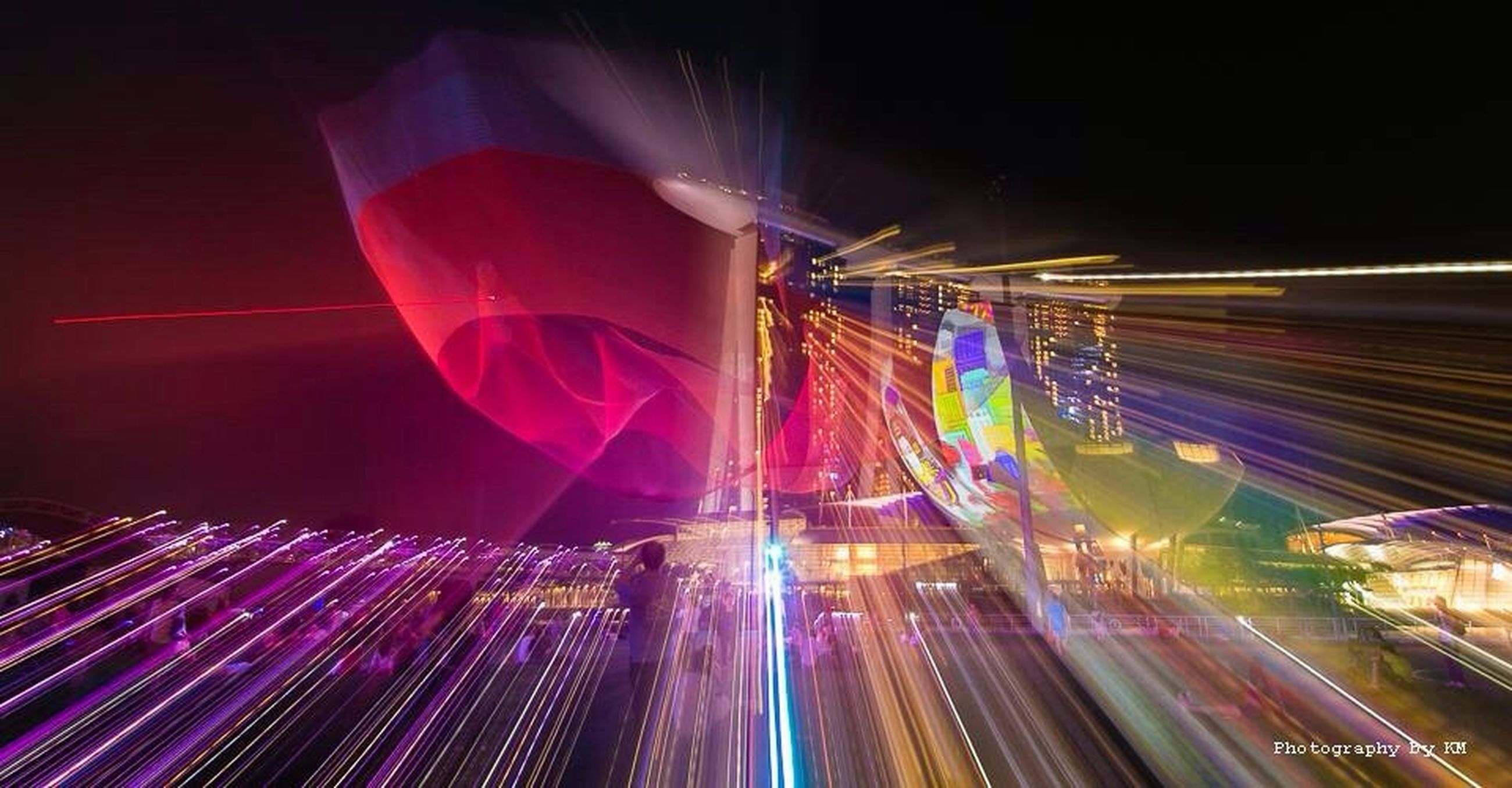illuminated, night, long exposure, light trail, speed, motion, blurred motion, transportation, multi colored, city, lighting equipment, traffic, road, city life, street, on the move, architecture, light - natural phenomenon, built structure, tail light