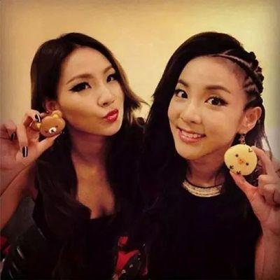 CL with her cutiepie. Aheemmm! ChaeRa ♡♥