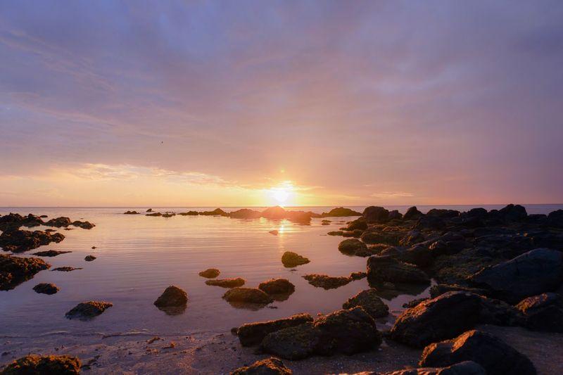 Beach Sunrise Sunset Coast East Coast Seashore Sea 🌊 EyeEmNewHere Lost In The Landscape