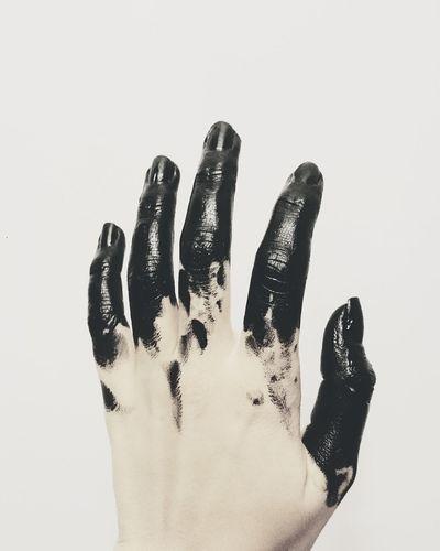 Human Hand Close-up Black Deamon Halloween