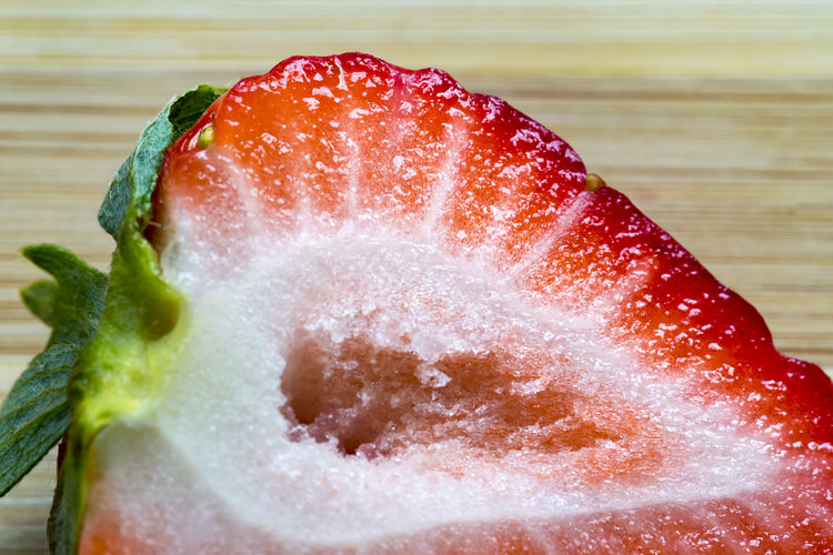 Cross Section Of Fresh Strawberry