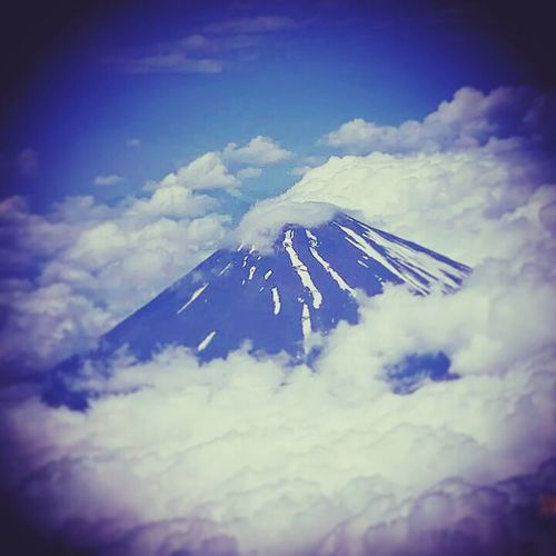 Mountfuji Viewfromtheplane Spectacular View