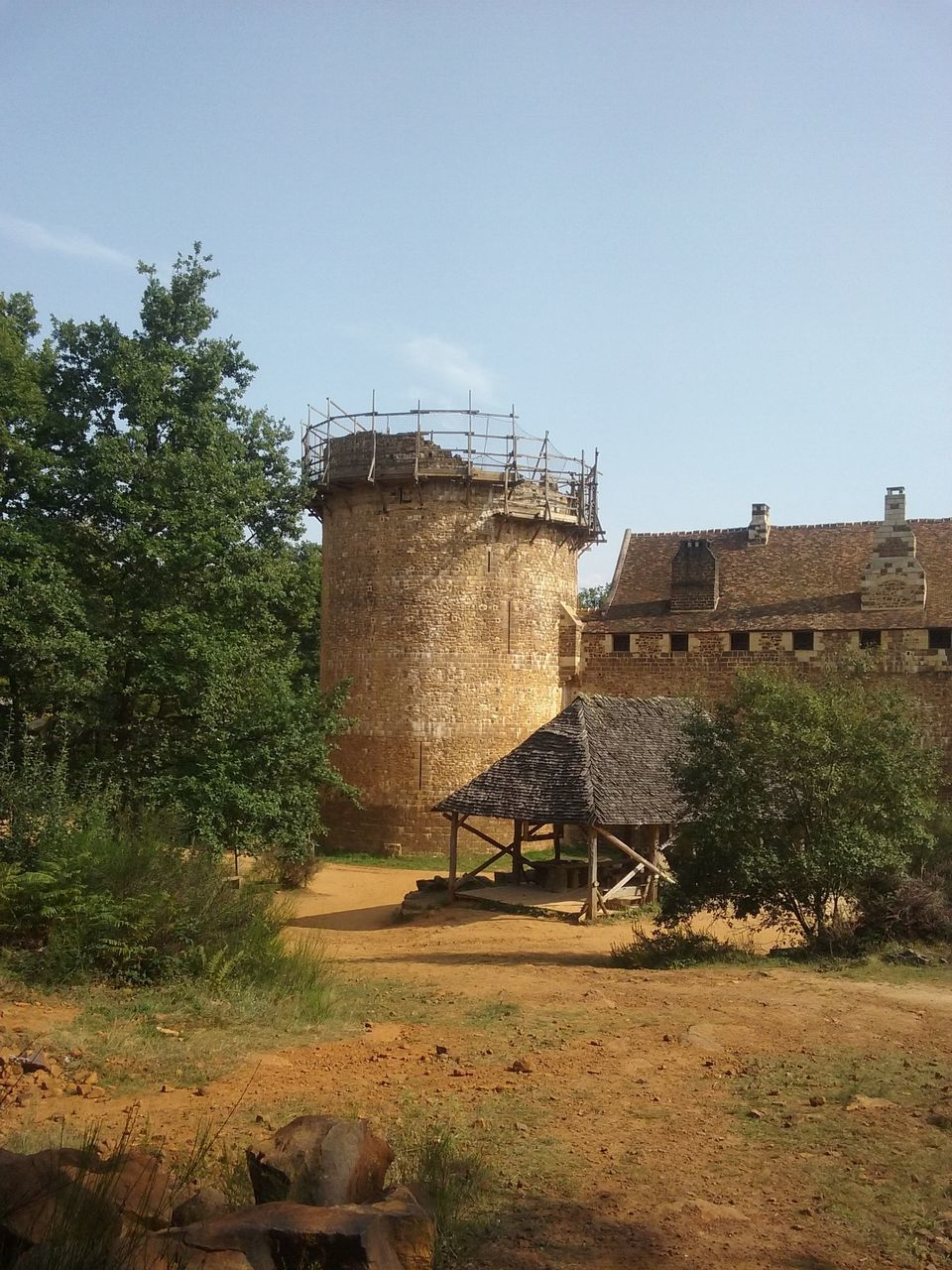built structure, architecture, storage tank, clear sky, day, tree, water tank, no people, building exterior, water tower - storage tank, outdoors, nature, sky
