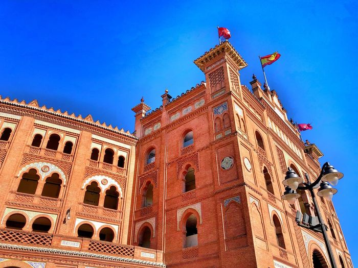 Bull Fight Plaza De Toros Built Structure Architecture Building Exterior Sky Blue Clear Sky Low Angle View