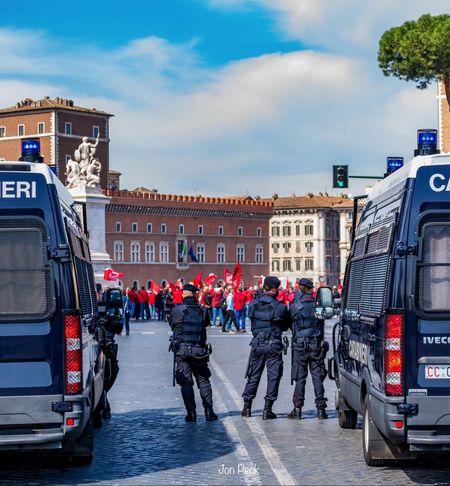 Streetphotography Police Demonstration