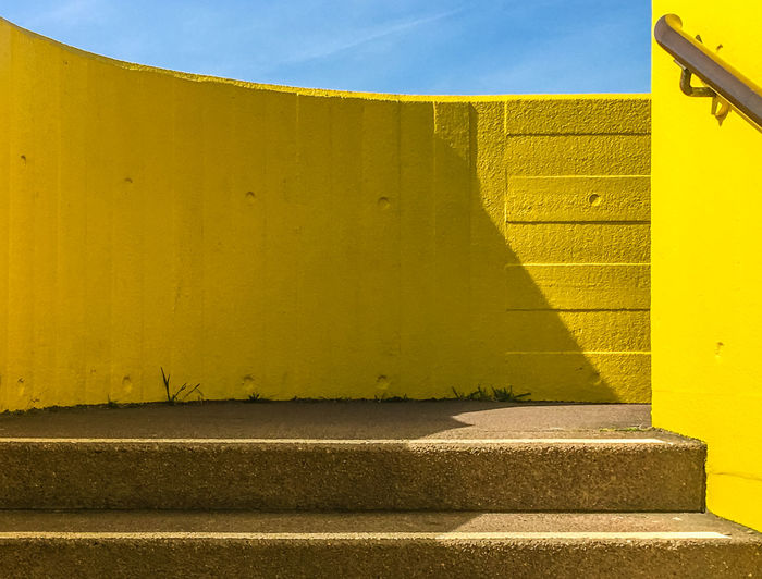 Paint The Town Yellow Architecture Building Exterior Built Structure Close-up Day No People Outdoors Shadow Sky Sunlight Yellow