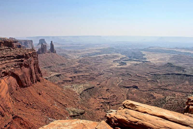 Scenic View Of Rocky Mountains At Canyonlands National Park
