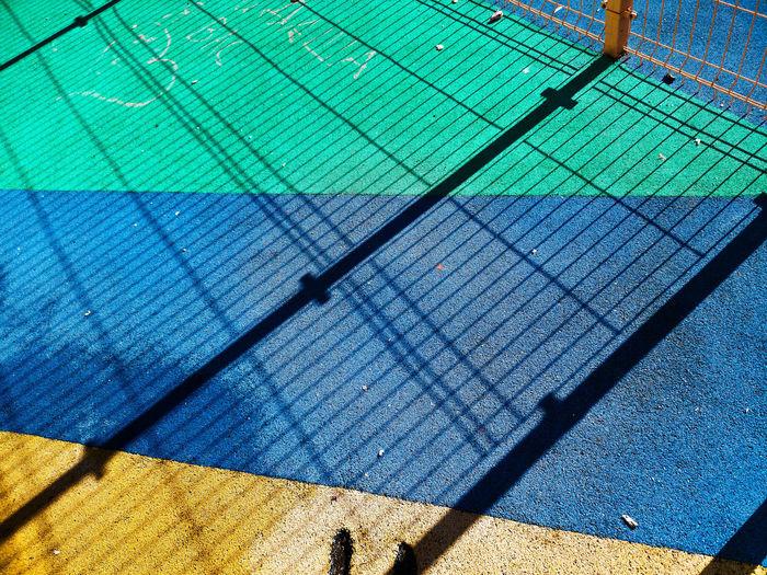 High angle view of swimming pool on wall