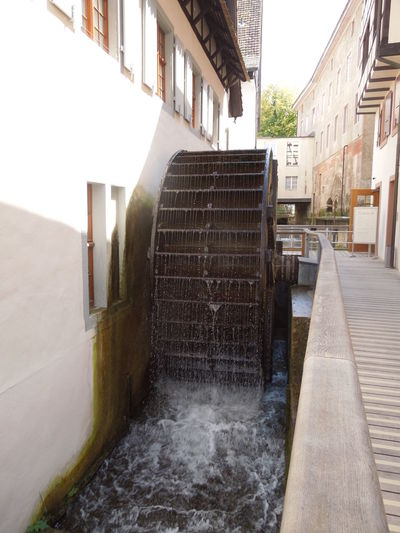 Mill wheel Architecture Built Structure Building Exterior Water Motion Day Building Nature No People Outdoors Flowing Water Alley Flowing Wheel Mill Mill Wheel Flowing