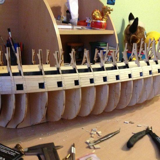 А вот с чего все начиналось. Сборка корабля Виктори. DIY Deagostini HMSVictory своимируками Woodwork  Partworks