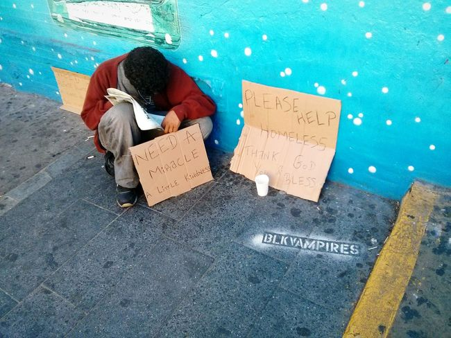 Need a Miracle . Nyc Streets Homeless