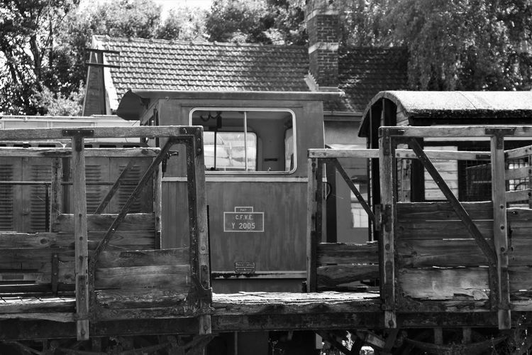 Black & White Normandie Normandie, France Old Train Station Abandoned Black And White No People Old Train Outdoors Transportation