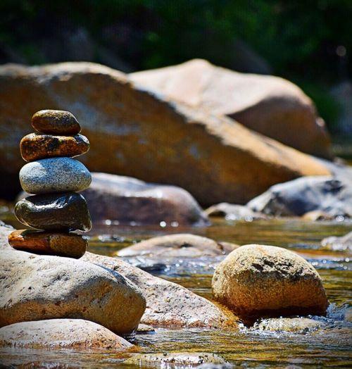 Pure peace.. Newhampsire Rock Tower Rock Balance River Showcase June
