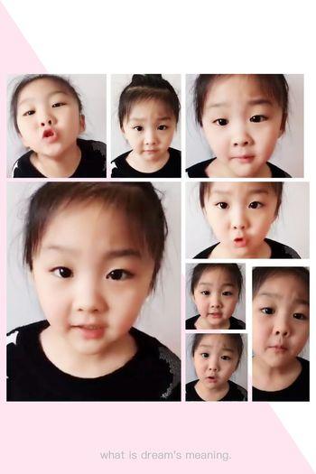 可爱♥ Child Digital Composite Girls Looking At Camera Children Only Portrait Happiness