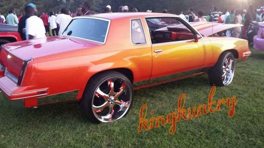 Oldsmobile Cutlass at a car show