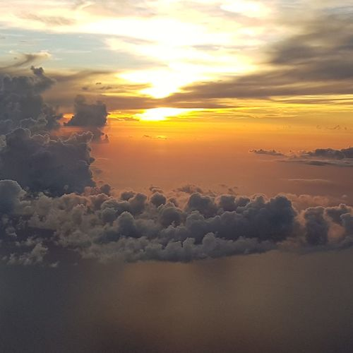 Sunset Sun Orange Color Cloud - Sky Beauty In Nature Sky Sunlight EyeemPhilippines El Nido, Palawan Eyeem Philippines Beauty In Nature EyeEm Nature Vacations Airplanes✈ Nofilterneeded