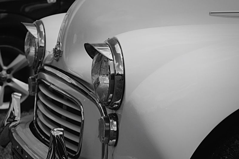 Blackandwhite Spring Is Coming  so out comes the Morris Minor 1000