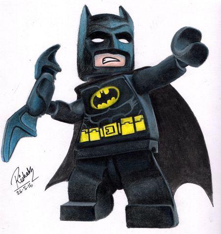 Batman Lego Minifigures LEGO Prismacolor Sketching And Stuff