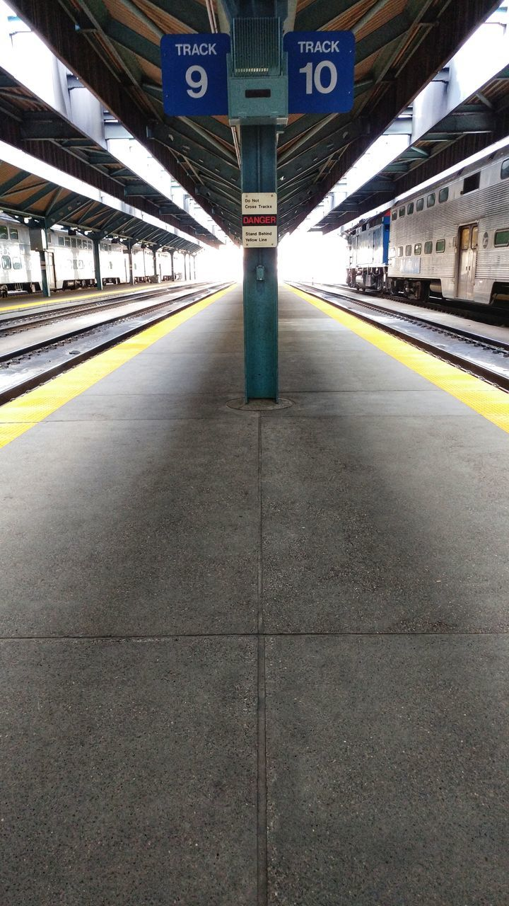 VIEW OF EMPTY RAILROAD STATION