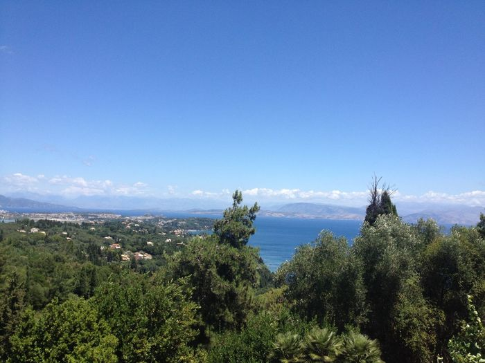 Corfu- view from Sissi's Palace CORFU ISLAND Corfu Sissi's Palace Corfu, Greece Beauty In Nature Blue Blue Sky Cityscape Corfu Day Greece Growth Landscape Mountain Nature No People Outdoors Scenery Scenics Tranquility Tree